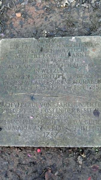 Tile Kolup Gedenkstätte im Kaisersgrund