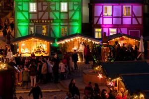 Er gehört zu den schönsten Weihnachtsmärkten der Region: der Adventsmarkt im Freilichtmuseum Hessenpark., Foto: privat