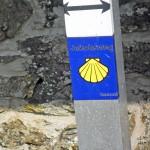 Markierung des Lahn-Camino